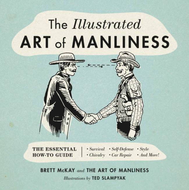 Art of manliness book as a gift for dad for fathers day.