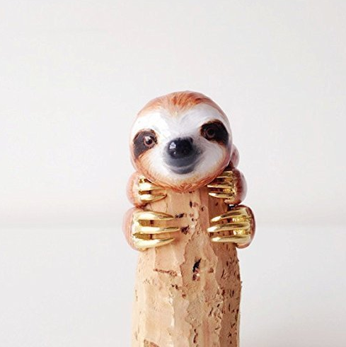 Cute sloth ring that she will absolutely love.