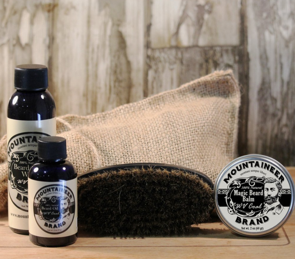 Manly beard care gift set. Perfect for fathers day.