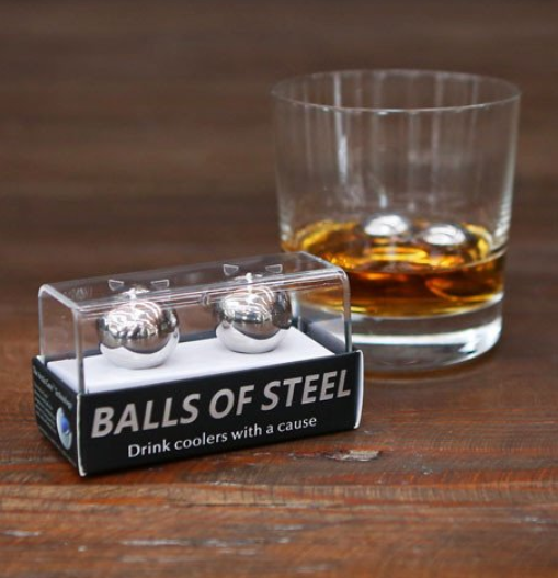 Manly gift idea for dad. Balls of stone whiskey balls.