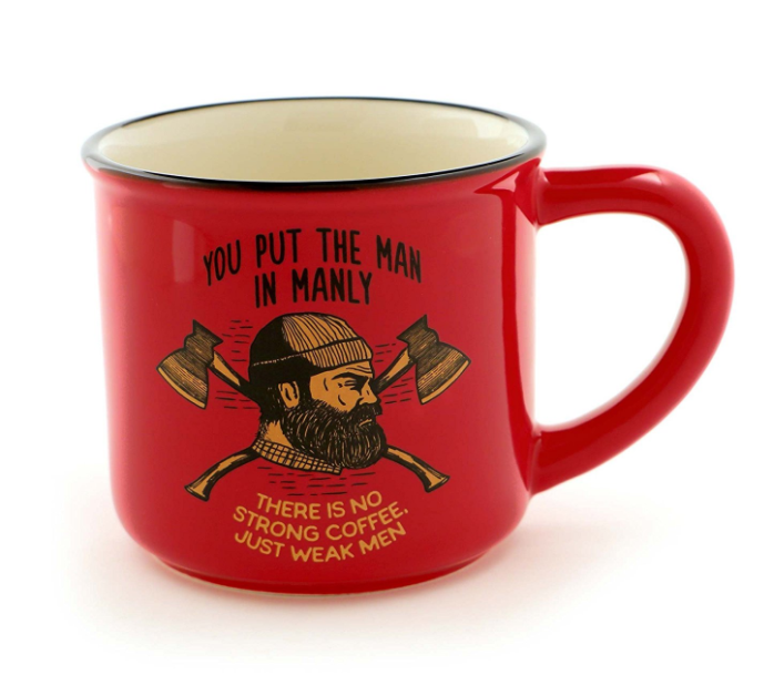 Manly gifts for dad coffee mug.