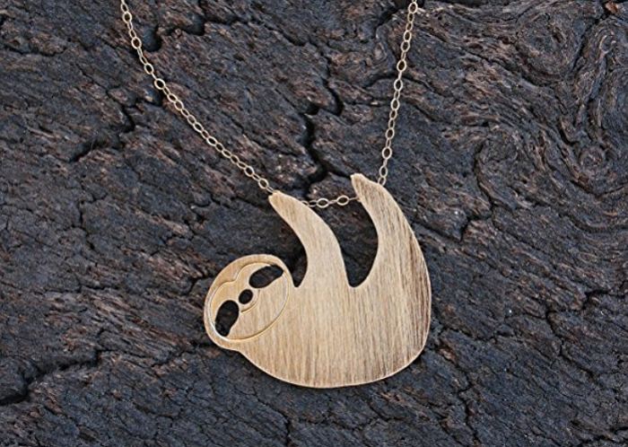 Sloth necklace gift. The best gift for any sloth lover.